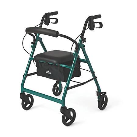 "Guardian Basic Rollator, 6"" Wheels, Green"