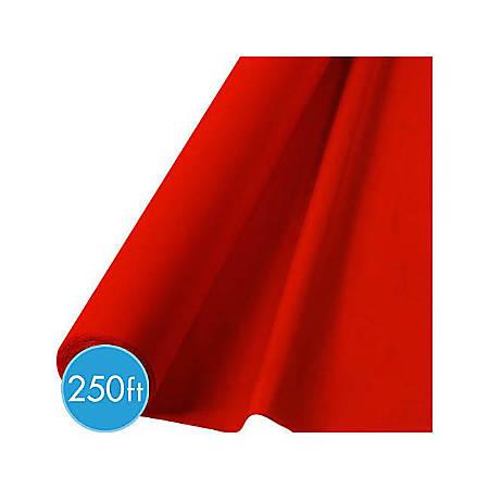 "Amscan Plastic Jumbo Table Roll, 40"" x 250', Apple Red"