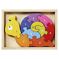 BeginAgain Toys Number Snail Puzzle ThemeSubject