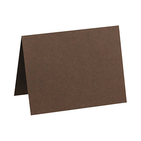 """LUX Folded Cards, A7, 5 1/8"""" x 7"""", Chocolate Brown, Pack Of 1,000"""