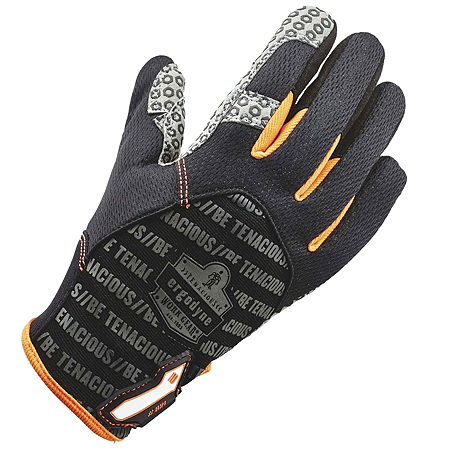 Ergodyne ProFlex 821 Smooth-Surface Silicone Handling Gloves, Small, Black