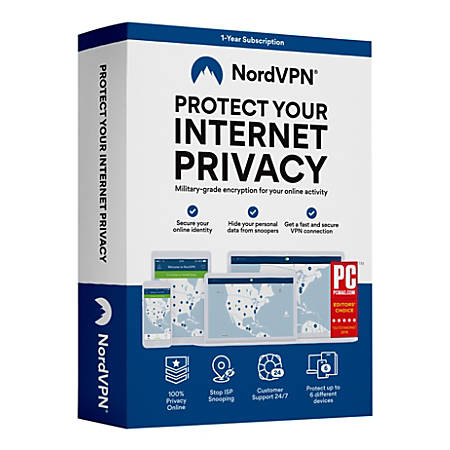 NordVPN Internet Security and Privacy 1-Year Subscription, For 6 Devices
