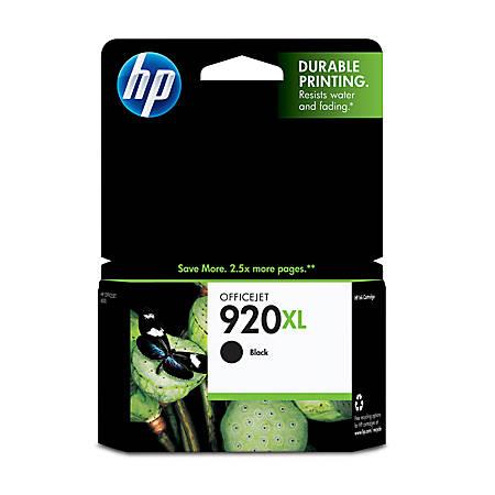 HP 920XL Black Ink Cartridge (CD975AN)