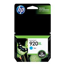 HP 920XL Cyan Original Ink Cartridge