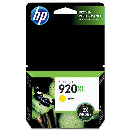 HP 920XL, Yellow Original Ink Cartridge (CD974AN)