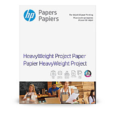 HP Heavyweight Project Paper Letter Paper