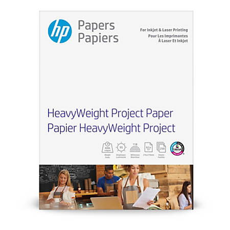 """HP Heavyweight Project Paper, Letter Size (8 1/2"""" x 11""""), 95 Brightness, 40 Lb, 250 Sheets (Z4R14A)"""