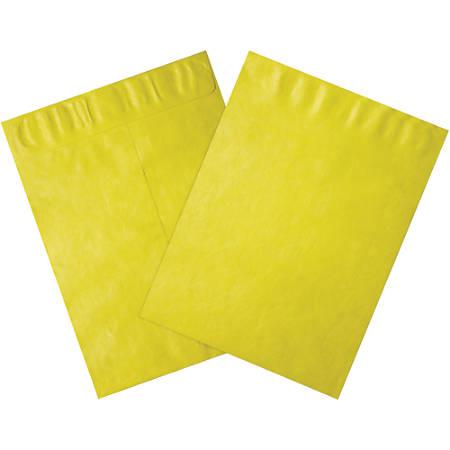 """Office Depot® Brand Tyvek® Envelopes, 10"""" x 13"""", Yellow, Pack Of 100"""