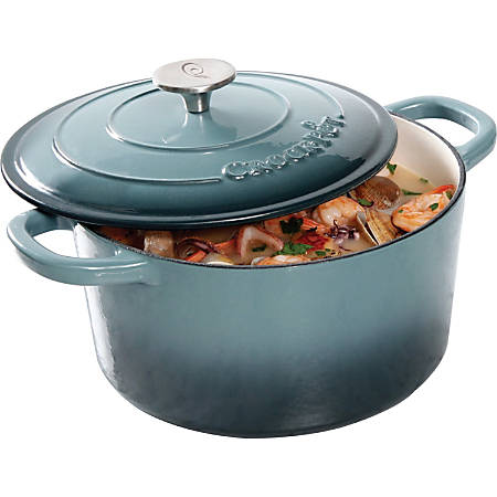 Crock Pot Artisan Dutch Oven - 5 quart Dutch Oven, Lid - Cast Iron - Cooking - Dishwasher Safe - Slate Gray - 1 Piece(s)