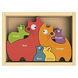 BeginAgain Toys Cat Family Bilingual Puzzle
