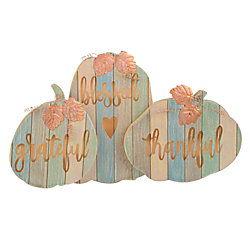 """Amscan MDF Grateful Blessed Thankful Plaque, 8"""" x 14"""", Pack Of 2"""