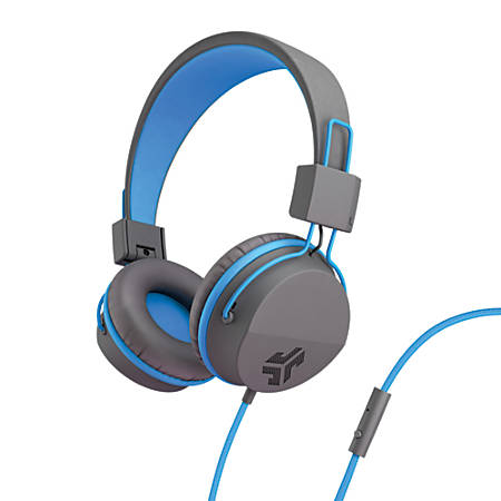 JLab Audio Intro Over-The-Ear Headphones, Blue, HINTRORBLU4