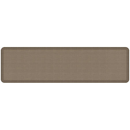 "GelPro NewLife Designer Comfort Grasscloth Anti-Fatigue Floor Mat, 20"" x 72"", Pecan"