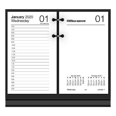 Desk Calendar 2020.Office Depot Brand Daily Desk Calendar Refill 3 1 2 X 6 White January To December 2020 Sp717d50 Item 7160409