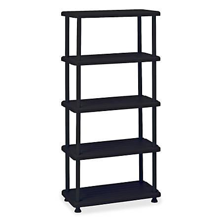 Iceberg 5-Shelf Open Storage System, Black