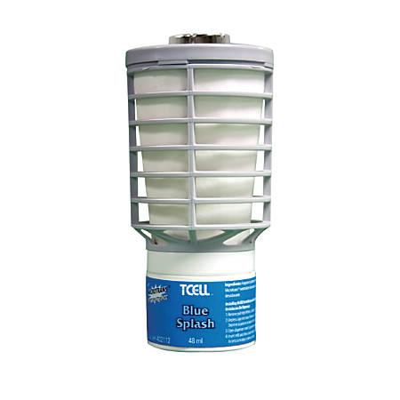 Rubbermaid TCell Air Freshener Refills, 32 Oz, Blue Splash, Case Of 6