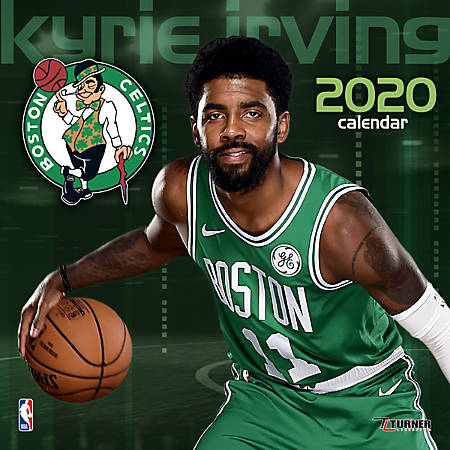 """Turner Licensing Monthly Wall Calendar, 12"""" x 12"""", Kyrie Irving, 2020"""