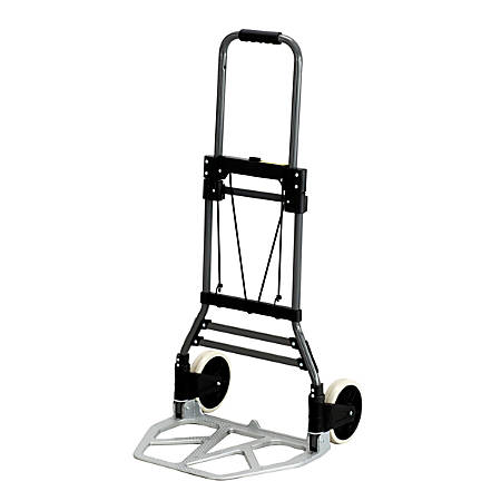 "Safco® Stow-Away® Medium-Size Hand Truck, 275 Lb. Capacity, 7"" Wheels"