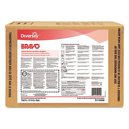 Diversey™ Bravo® Heavy-Duty Low-Odor Floor Stripper, 640 Oz, Clear