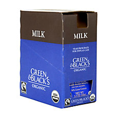 Green Black Organic Milk Chocolate Bars