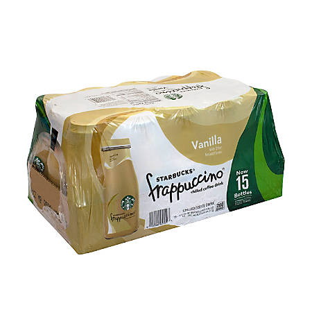 Starbucks® Frappuccino Vanilla Coffee Drink, 9.5 Oz, Carton Of 15 Bottles