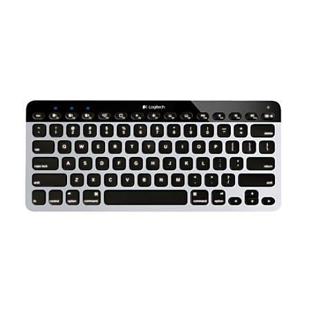 Logitech® K811 Bluetooth® Keyboard For Apple® Mac®, iPad® And iPhone®, Silver