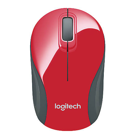 Logitech® M187 Wireless Mini Optical Mouse, Red