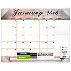 At A Glance Visual Organizer Professional Desk Pad