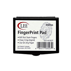 Lee Fingerprint Ink Pad Black