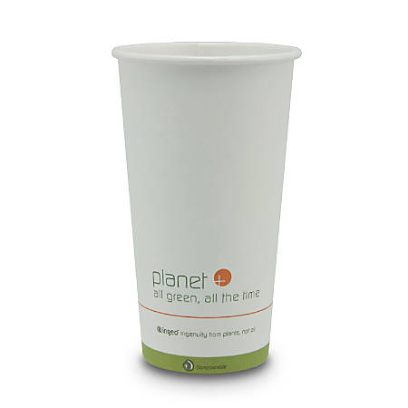 StalkMarket® Planet+ Compostable Hot Cups, 20 Oz, White, Pack Of 500 Cups