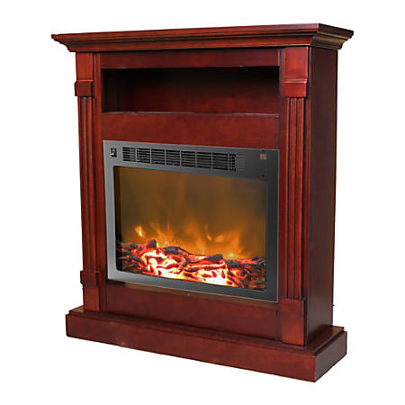 Cambridge Sienna Fireplace Mantel with Electronic Fireplace Insert - Indoor - Freestanding