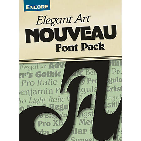 Font Collection: Elegant Art Nouveau (Mac), Download Version