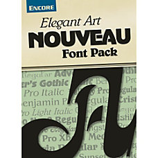 Font Collection Elegant Art Nouveau PC