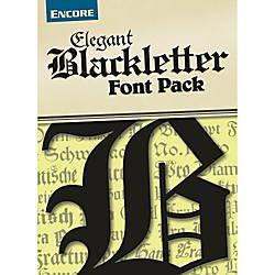Font Collection Elegant Blackletter Mac Download