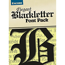 Font Collection Elegant Blackletter Mac Download