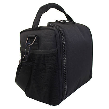 Office Depot® Solid Top-Zip Lunch Box, Black