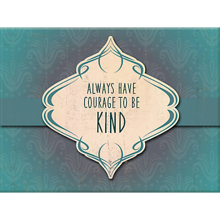 """PTM Images Framed Wall Art, Courage, 12""""H x 16""""W, White"""