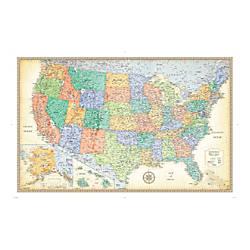 Rand Mcnally Classic U S Wall Map Office Depot