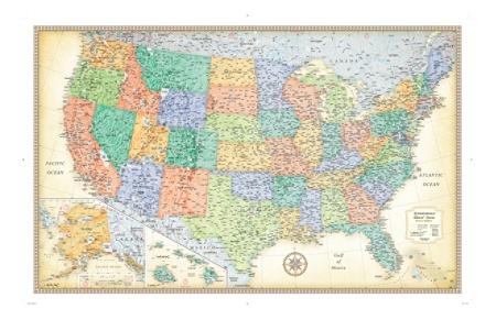 Rand McNally Classic U S Wall Map fice Depot