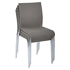 Ave Six Conway Stacking Chairs SmokeSilver