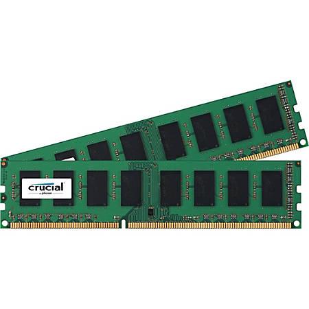 Crucial 16GB (2 x 8 GB) DDR3 SDRAM Memory Module - 16 GB (2 x 8 GB) - DDR3-1866/PC3-14900 DDR3 SDRAM - CL13 - 1.35 V - Non-ECC - Unbuffered - 240-pin - DIMM