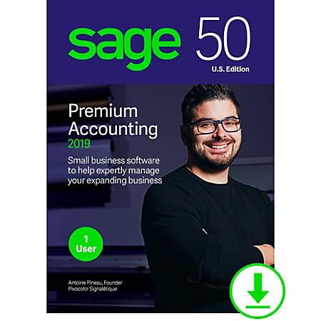 Sage 50 premium accounting 2019 u. S. 1 user download version.