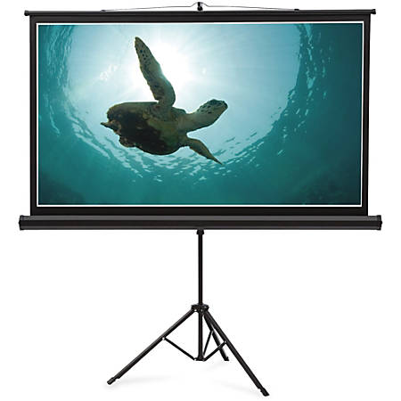 """Quartet® Wide Format Projection Screen, 16:9 Aspect Ratio, 45"""" x 80"""", Tripod Base - 16:9 - Matte White - 45"""" x 80"""" - Surface Mount"""