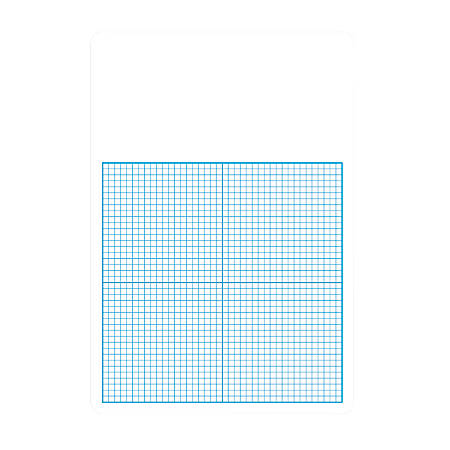 """Flipside 1/4"""" Graph Dry-Erase Board Class Pack, 16""""H x 11""""W x 1/16""""D, White/Blue, Pack Of 12"""