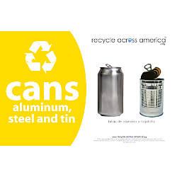 Recycle Across America Aluminum METAL 5585