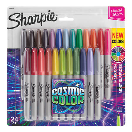 1 FREE sharpie!! BRAND NEW Mixed Colour Sharpie Fine Permanent Markers 24 pack