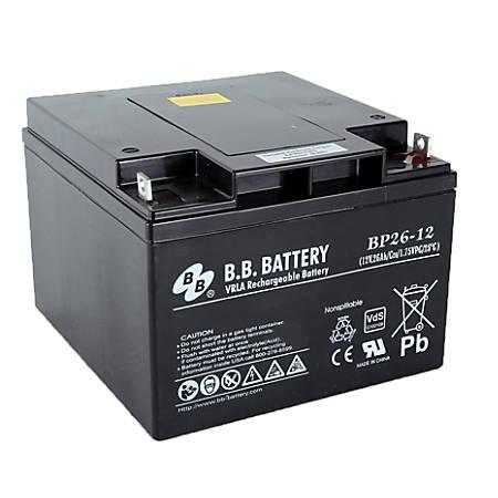 B & B BP Series Battery, BP26-12, B-SLA1228