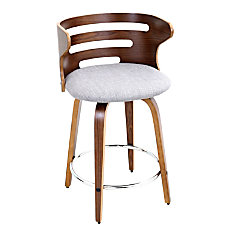 Lumisource Cosini Counter Stool GrayWalnut