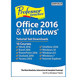 Professor Teaches Office 2016 And Windows