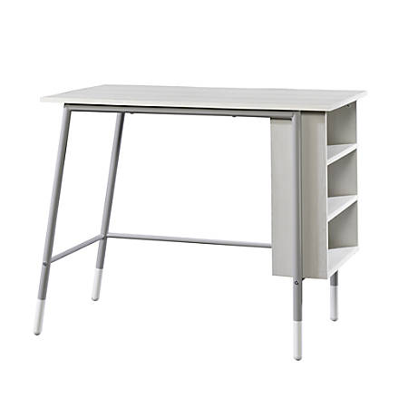 Sauder® Square1 Desk With Shelves, Dark Gray/Gray Ash
